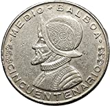 1953 PANAMA 1/2 BALBOA 50th Anniversary of Republic Founding AR Coin i53781