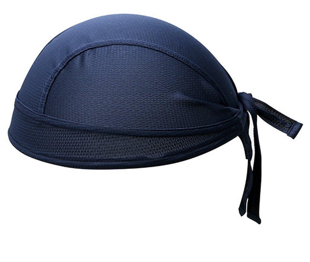 スポーツパイレーツ帽子平野薄型ファストドライ通気性サイクリングバンダナキャップサンUVプロテクションヘッドバンドヘッドラップビーニースカルキャップヘルメット用女性男性バイキングオートバイ乗馬、ブラック/カーキ/青/紫/ロイヤルブルー   B01HRLZFD6