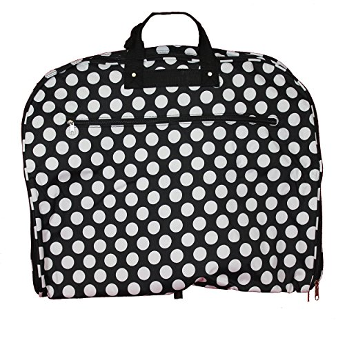 World Traveler 40-inch Hanging Garment Bag-Black White Dot I