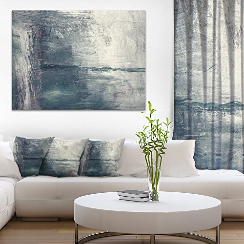 Grey Abstract Pattern Oil Painting Abstract Canvas Painting by Design Art