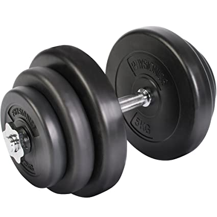 Juego de Mancuerna de Fitness y Pesas 20 kg Pesas Musculación Discos y Barra