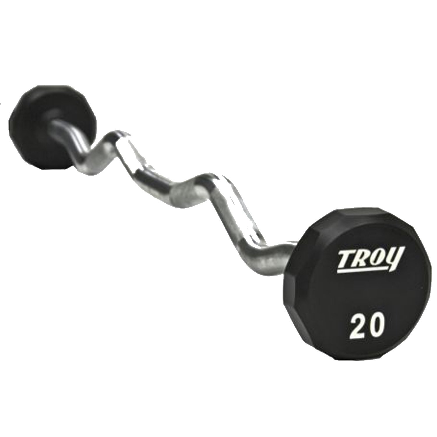 Troy Urethane 12 Sided EZ Curl Barbell