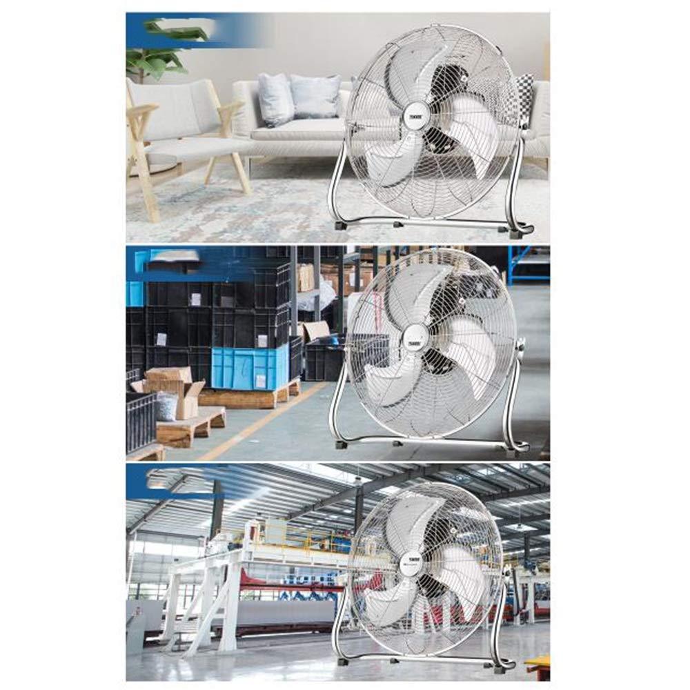 Ventilateur De Sol Industriel /À Haute Puissance avec 3 R/églages De Vitesse Et Vent Multi-Angle Size : 40CM ZZHFS Ventilateur Ventilateur De Bureau
