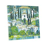 Niwo ART (TM) - Kirche in Cassone, by Gustav Klimt, Oil painting Reproduction - Giclee Wall Art for Home Decor, Gallery Wrapped, Stretched, Framed Ready to Hang (20