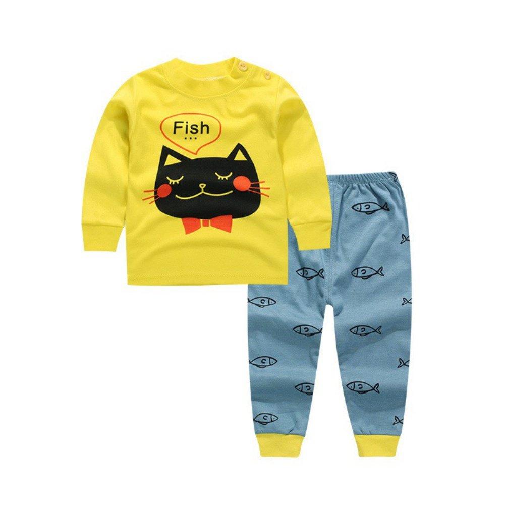BOBORA Pyjamas Bébé Garçon, Motif de Dessin Anime Bébé Filles Garçons Manches Longues Vetements de Nuit BON-N-2177