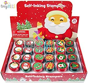 Set of 6 Cute Christmas Holiday Stampers Arts and Craft Supplies