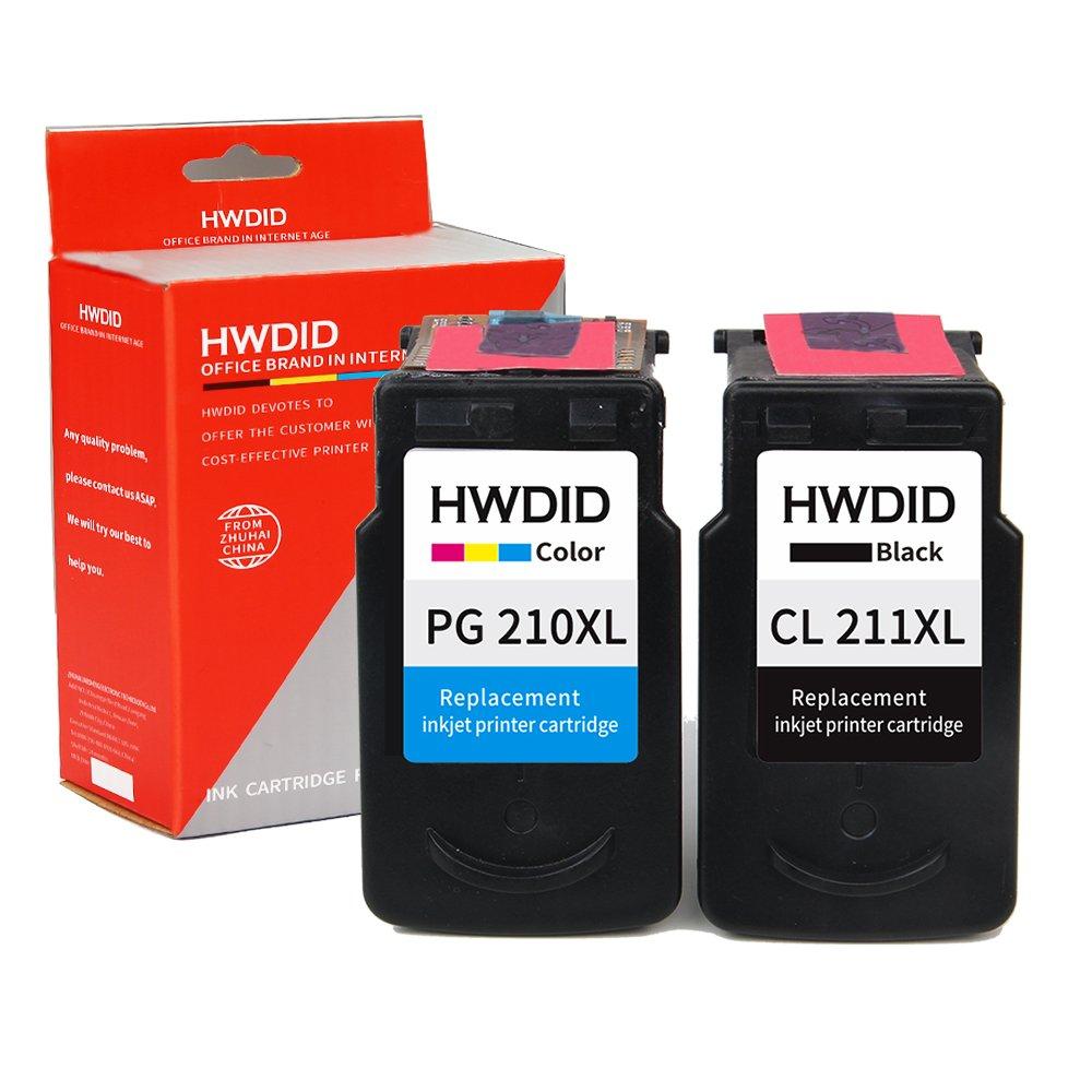 hwdid REMANUFACTURADO cartucho de tinta repuesto para PG-210 ...