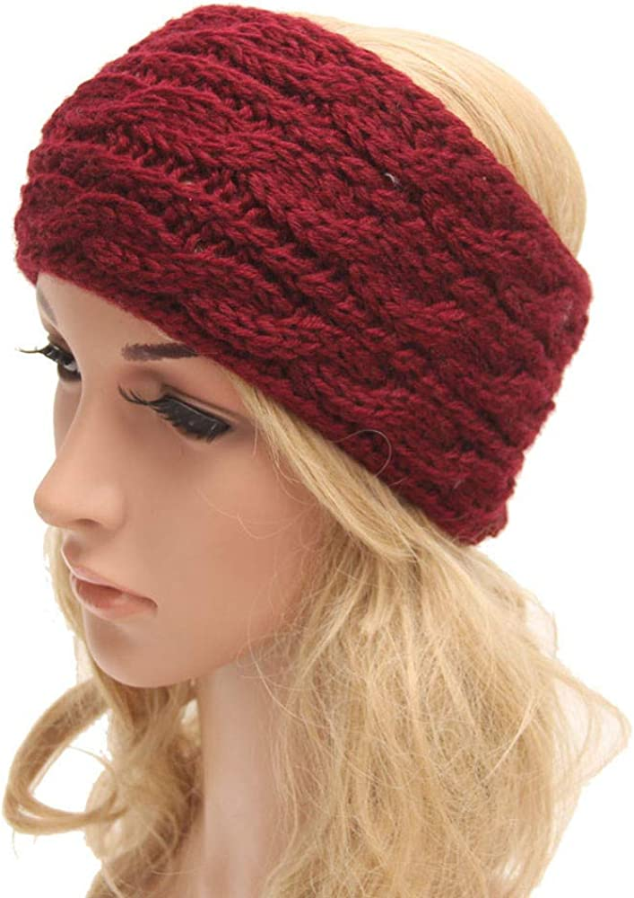 Winter Headband Women Knit...