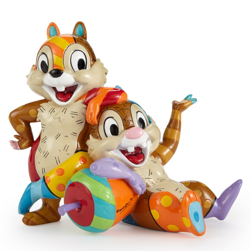 Disney by Britto Chip and Dale Stone Resin Figurine