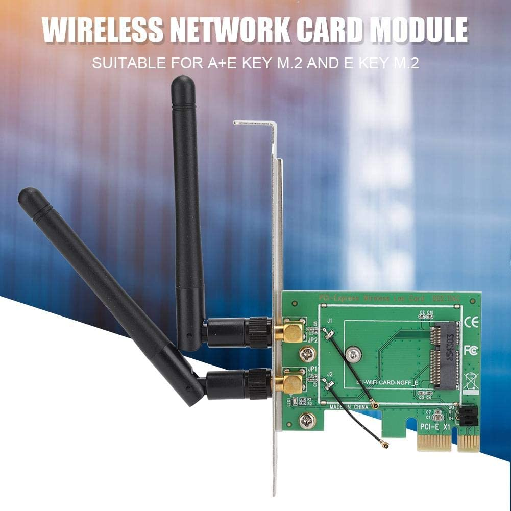 Desktop Computer Built in Network Card Dual Band PCI-E Wireless Network Card 2.4Ghz//5GHz 300Mbps ENIG Technology Computer Network Card Wendry Network Card