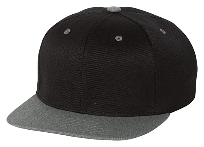 404673a27b9 Image Unavailable. Image not available for. Color  Flexfit Wool Blend Flat  Bill Snapback Cap ...
