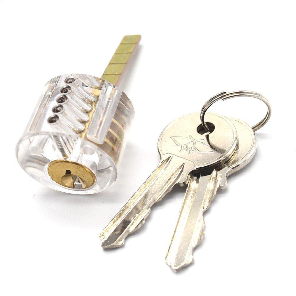 micg 6pcs locks transparent visible cutaway practice kit padlock