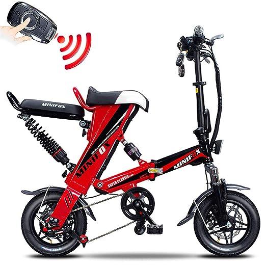 Bicicleta electrica Bicicleta Plegable Unisex Acero de Alto ...
