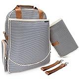 #4: O'beanie Baby Backpack Diaper Bag | Designer Fashion | Unisex Nautical Navy & Cream Stripe