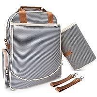 O'beanie Baby Backpack Diaper Bag | Designer Fashion | Unisex Nautical Navy &...