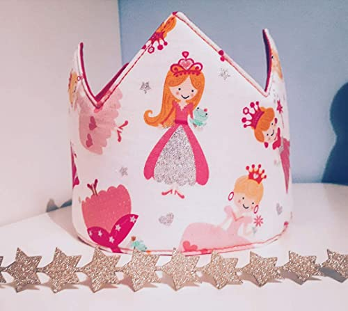 Corona cumpleaños - aniversario tela bebe princesa niñas ...