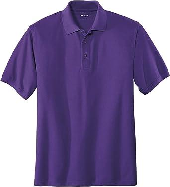 Joe's USA Men's Classic Polo Shirts - Tall 2X-Large 2XLT (47-49) - Purple