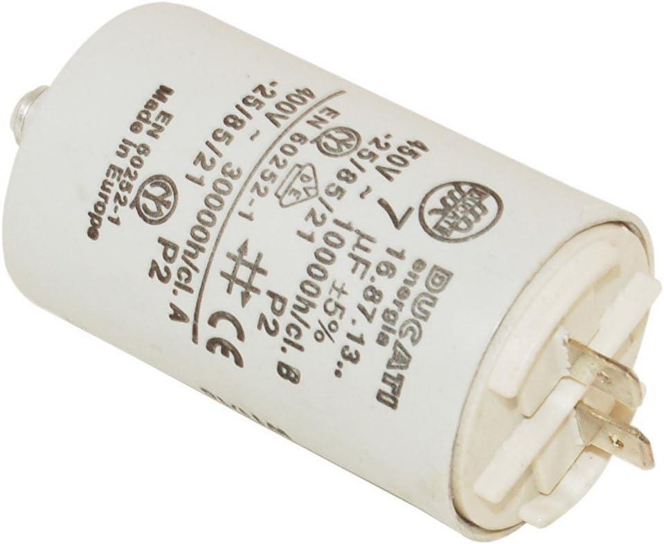 SPARES2GO condensador para secadora de condensador o bajante Indesit (7UF)