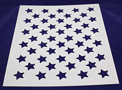 50 Star Field Stencil Usa American Flag 17 5 X 14 Inches