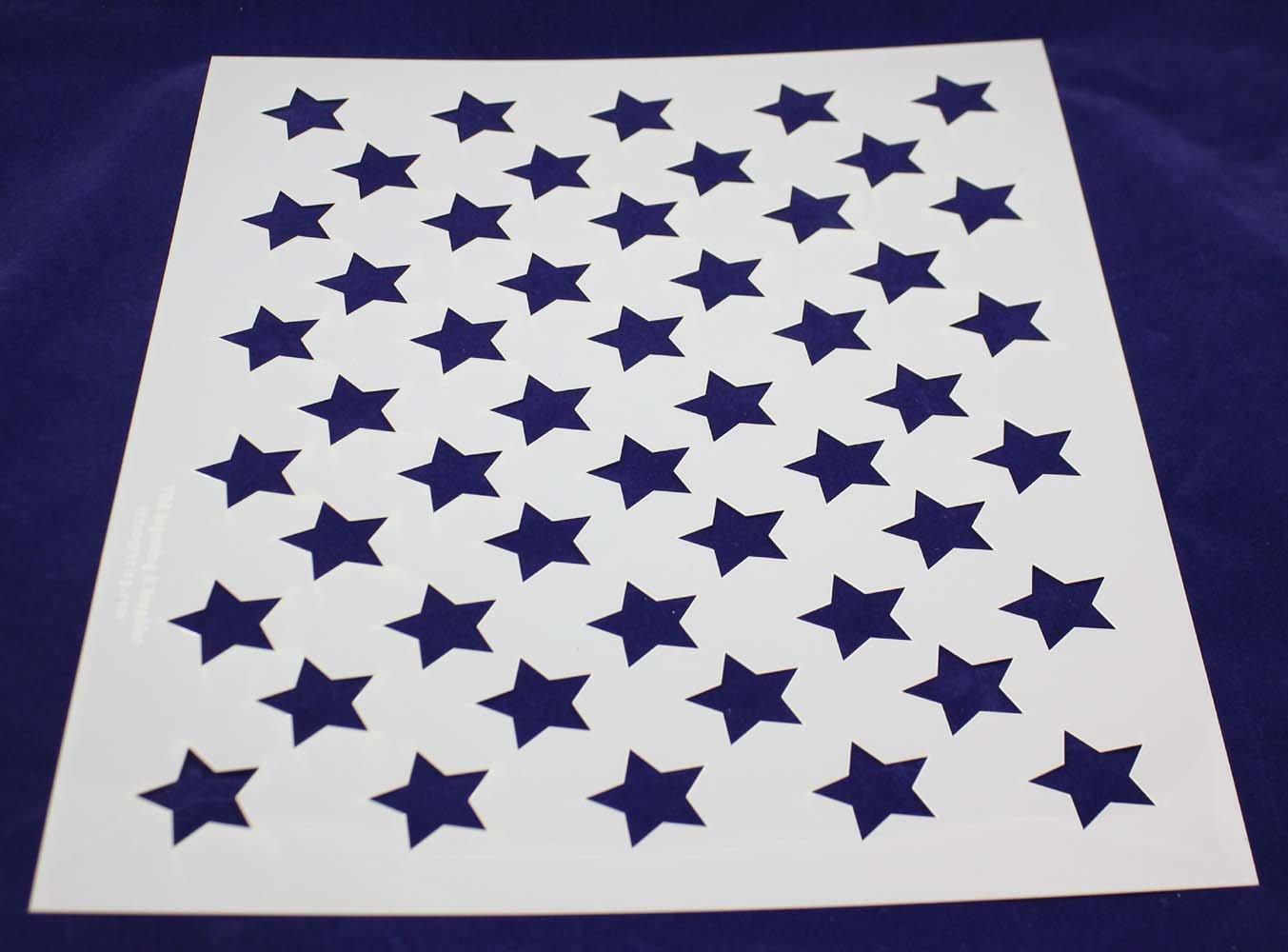 50 Star Field Stencil - USA/American Flag - 17.5''W X 14''H