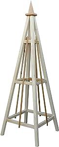 WOODBRUTE Pine Obelisk Trellis Garden Tower with Spire Finial, 72