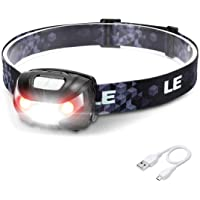 LED Headlamp Rechargeable, Super Bright, 5 Modes, IPX4 Waterproof, Adjustable and Comfortable Headlamp Flashlights for…