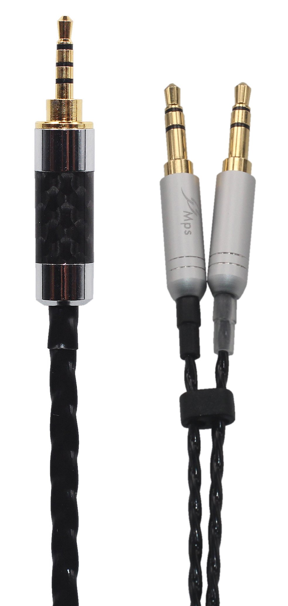 KK Cable GX-7 Compatible Upgrade Audio Cable Replacement for Earphone Cable Beyerdynamic T1 II, T5 Headphone. 2.5mm Trrs Balanced Male to Dual 3.5mm Connector cable. GX-7 (4.9ft (1.5M))