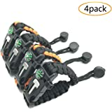 Multifunctional Paracord Bracelet, DIGSELL Outdoor Survival Kit W Compass Flint Fire Starter Scraper Whistle for Hiking Camping Emergency