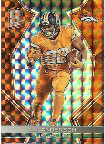 2017 Spectra Neon Orange #79 C.J. Anderson /5 Broncos