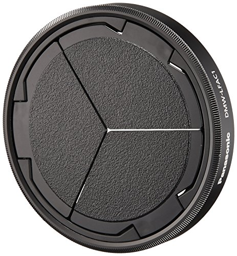 Panasonic DMW-LFAC1K Automatic Lens Cap for Lumix DMC-LX100 Camera, Black