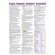 Pages, Keynote, & Numbers Essentials for Mac, versions x.5 Quick Reference Guide (Cheat Sheet of Instructions, Tips & Shortcuts - Laminated Card) by Beezix Inc. (October 31,2014)