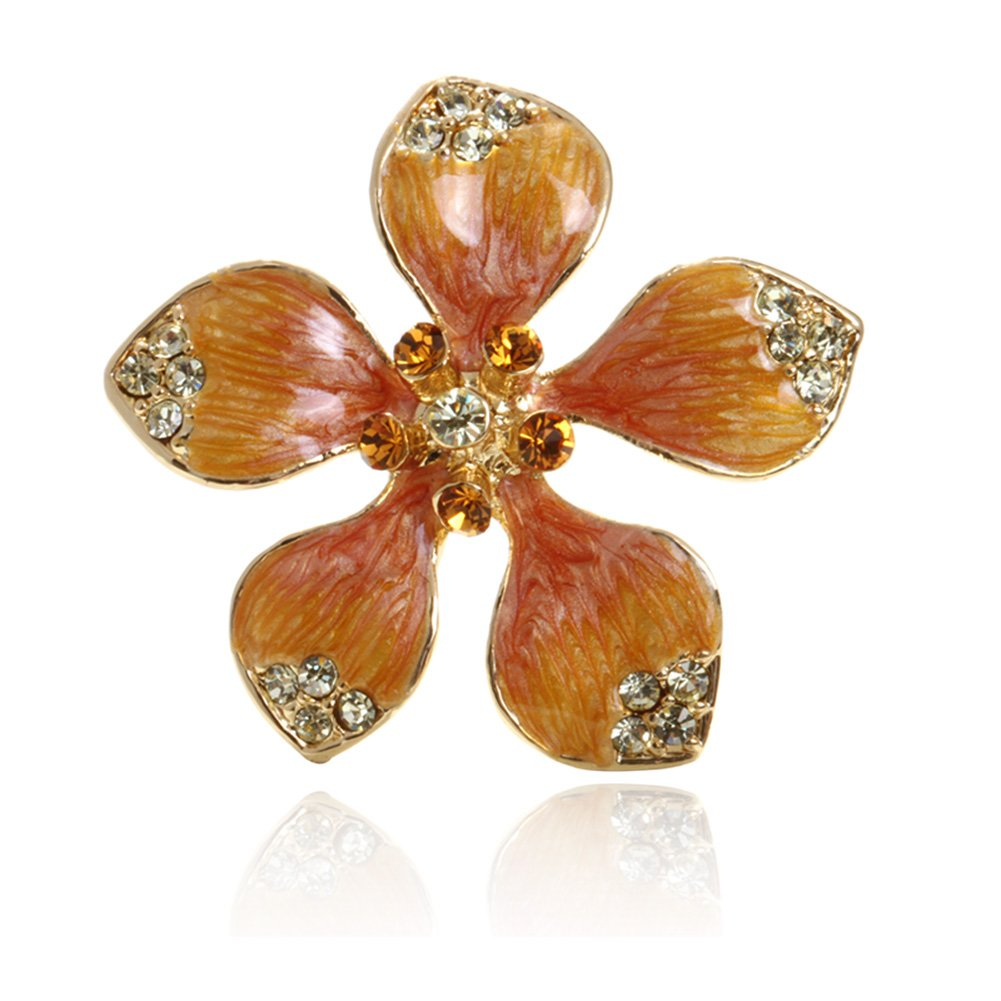 Digabi Women Jewelry Brooch Clothing Accessories Fashion Flower with Gift Bag