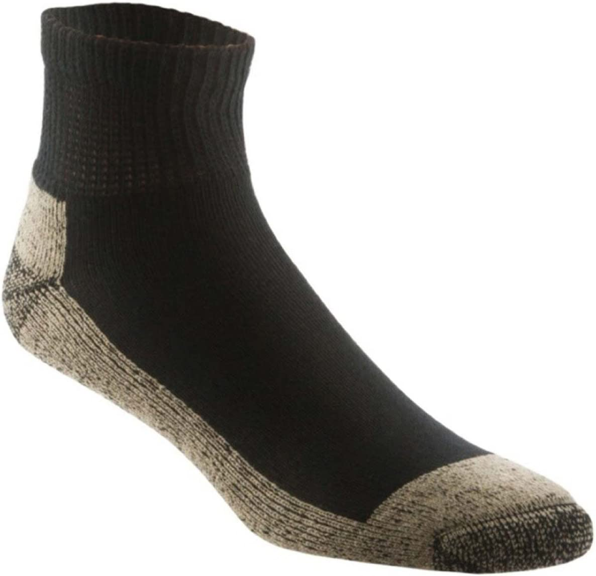 Black Large Aetrex Copper Athletic Ankle Sock