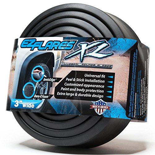 The Original EZ Flares XL Universal Flexible Foam Rubber Fender Flares Trim 3-Inch