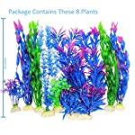 Otterly Pets Plastic Plants for Fish Tank Decorations Large Artificial Aquarium Decor and Accessories - 8-Pack 14