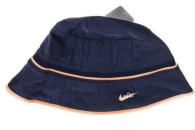 Nike - Cappello alla Pescatora - Donna Navy Orange Small Medium ... bbd6a6378102