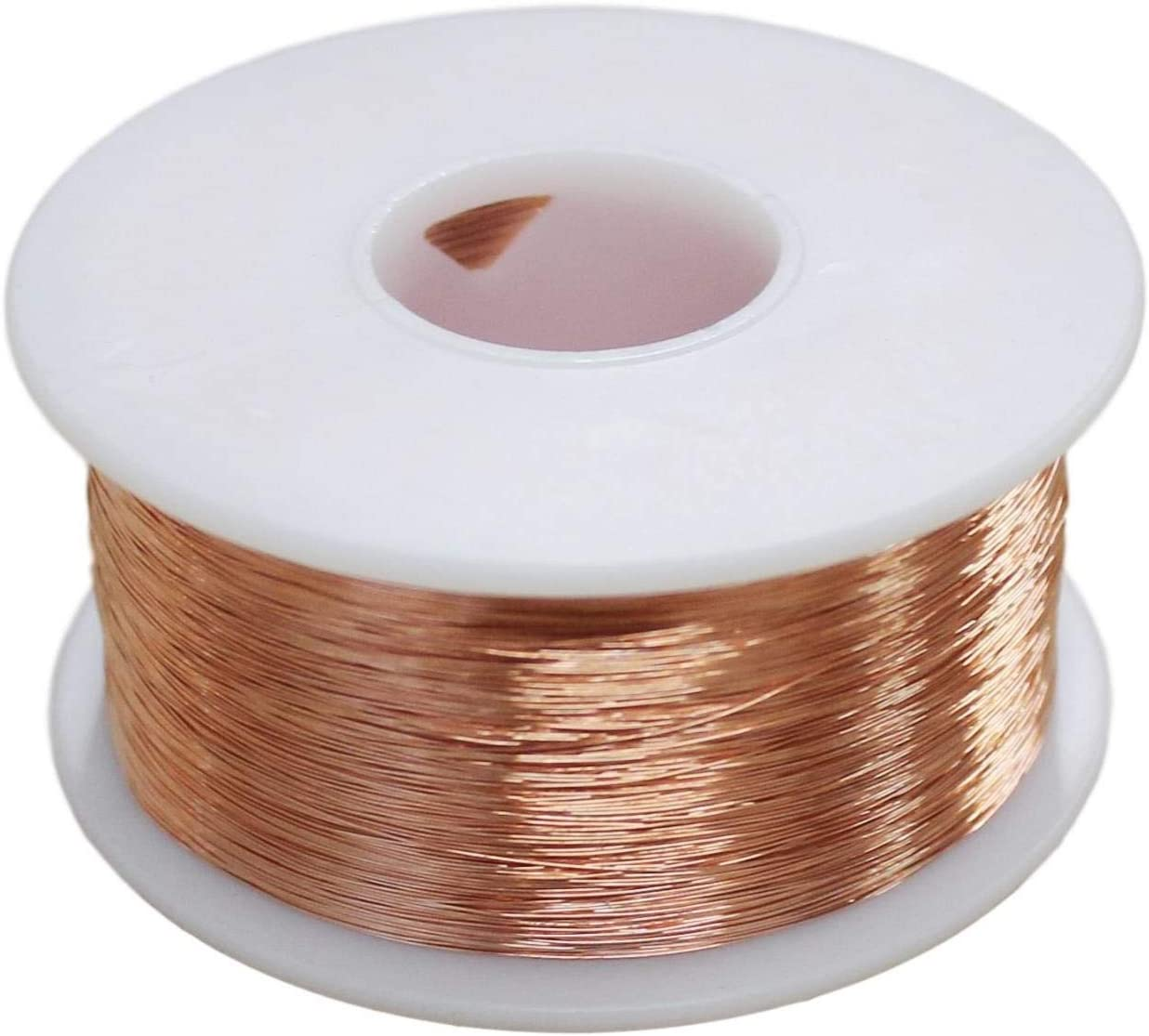 Dead Soft 12 Ga Bare Copper Round Wire - 1 Lb SPOOL 50 Ft