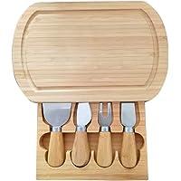 Tabla de queso de madera de bambú respetuosa