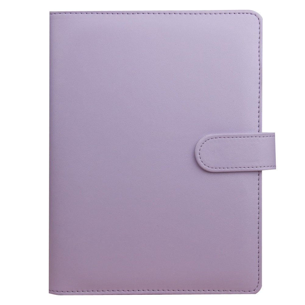 Dasior 2 Pack Hardcover Notebook, Faux Leather Cover Business Notebook Notepad with Pen Holder Card Pocket, A6 Lilac by Dasior (Image #1)
