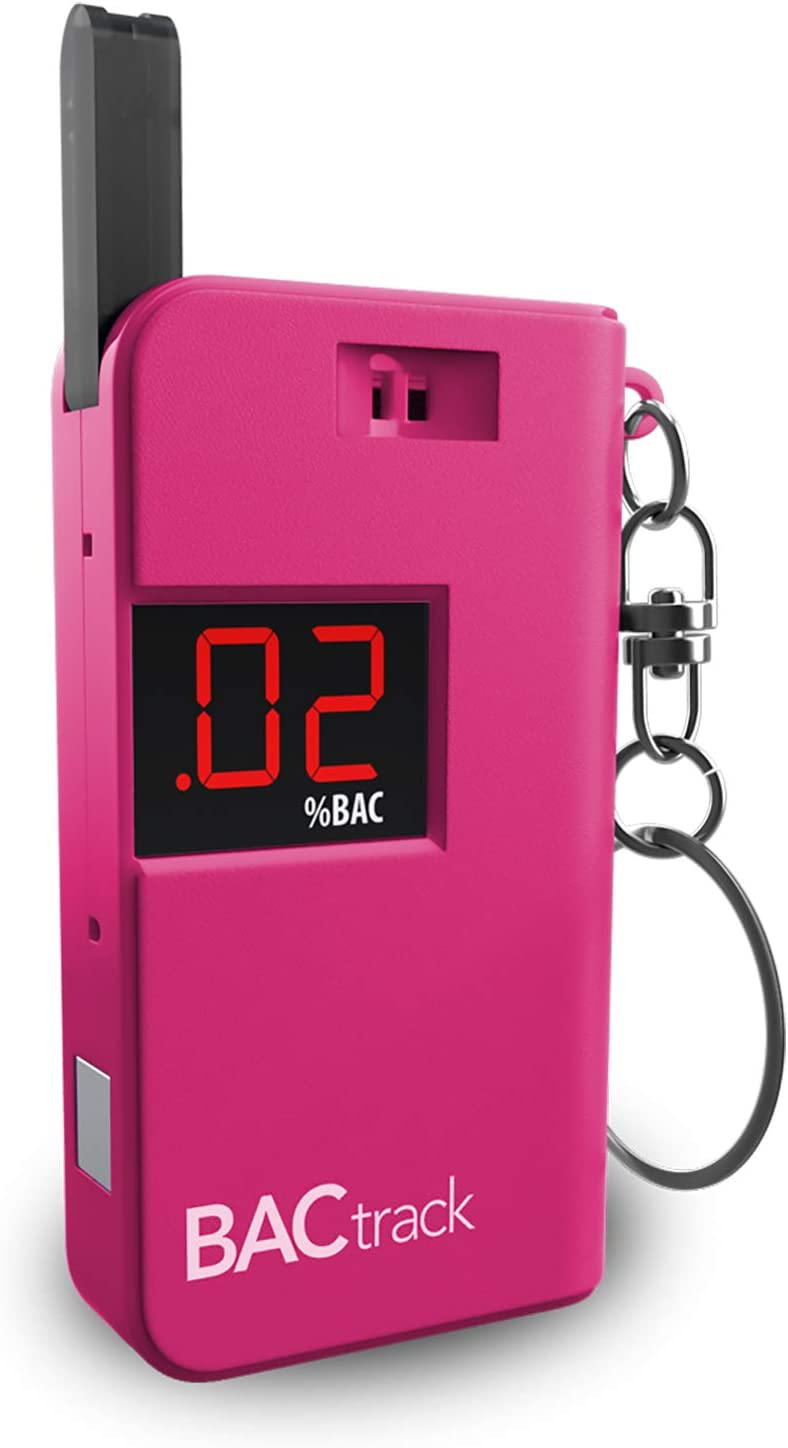 BACtrack Keychain Breathalyzer (Pink) | Ultra-Portable Pocket Keyring Alcohol Tester for Personal Use