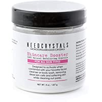 Microdermabrasion Face Scrub. Natural Facial Exfoliator For Dull Or Dry Skin Improves Acne Scars, Blackheads, Pore Size, Wrinkles, Blemishes & Skin Texture. 8 Oz