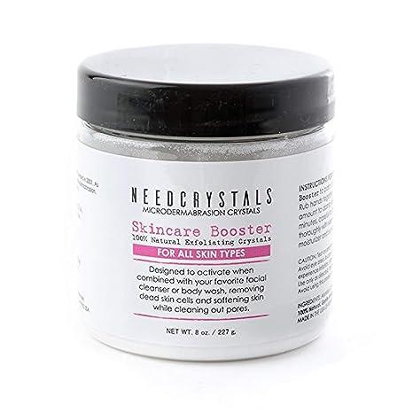 Cristales de microdermabrasión NeedCrystals, exfoliante facial. Exfoliante facial natural para pieles apagadas o secas