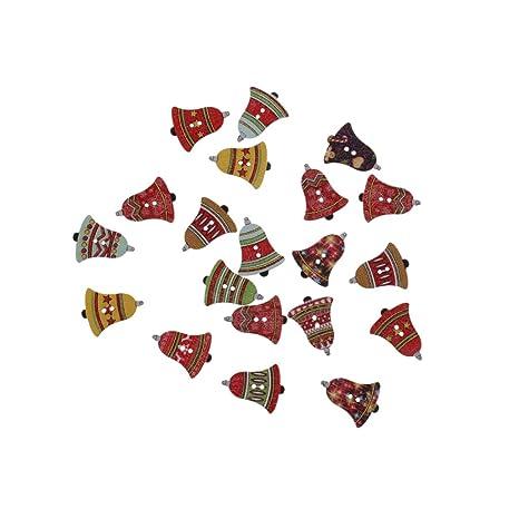 20 Piezas Guitarra Pinzas Botones De Madera Botones De Coser Ornamentos Ingredientes Bricolaje De Navidad -