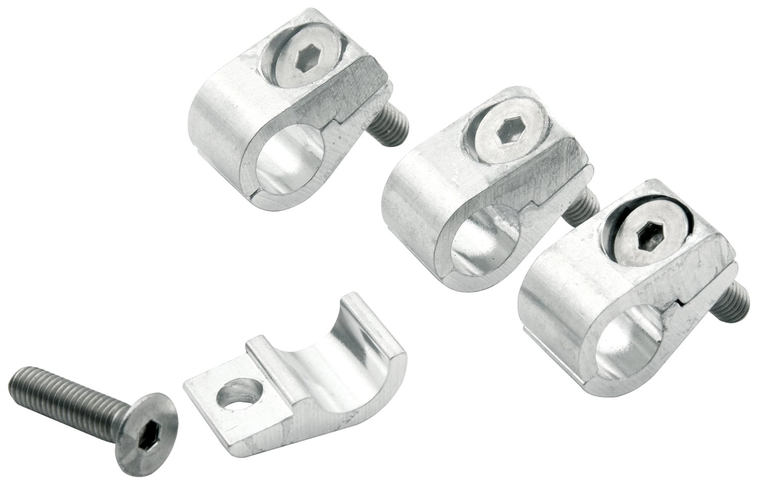 Pack of 4 Allstar ALL18322 5//16 I.D Aluminum Clamp-On Style Universal Line Clamp,