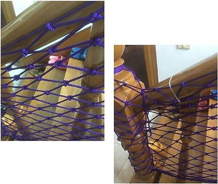 Rete Di Corda Di Nylon Viola /Merce Netta Corda Per Rete Di Sicurezza Per Bambini /Rete Per Decorazioni Da Giardino Rete Di Sicurezza Balcone Rete Fitosanitaria Tessitur Rete di sicurezza per bambini