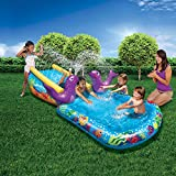 #2: Banzai Kid Toddler Outdoor Inflatable My First Water Slide and Splash Pool
