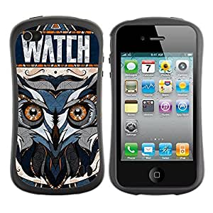 fashion Case for Apple iPhone 5c for kids / Awesome OWL Pattern Tattoo