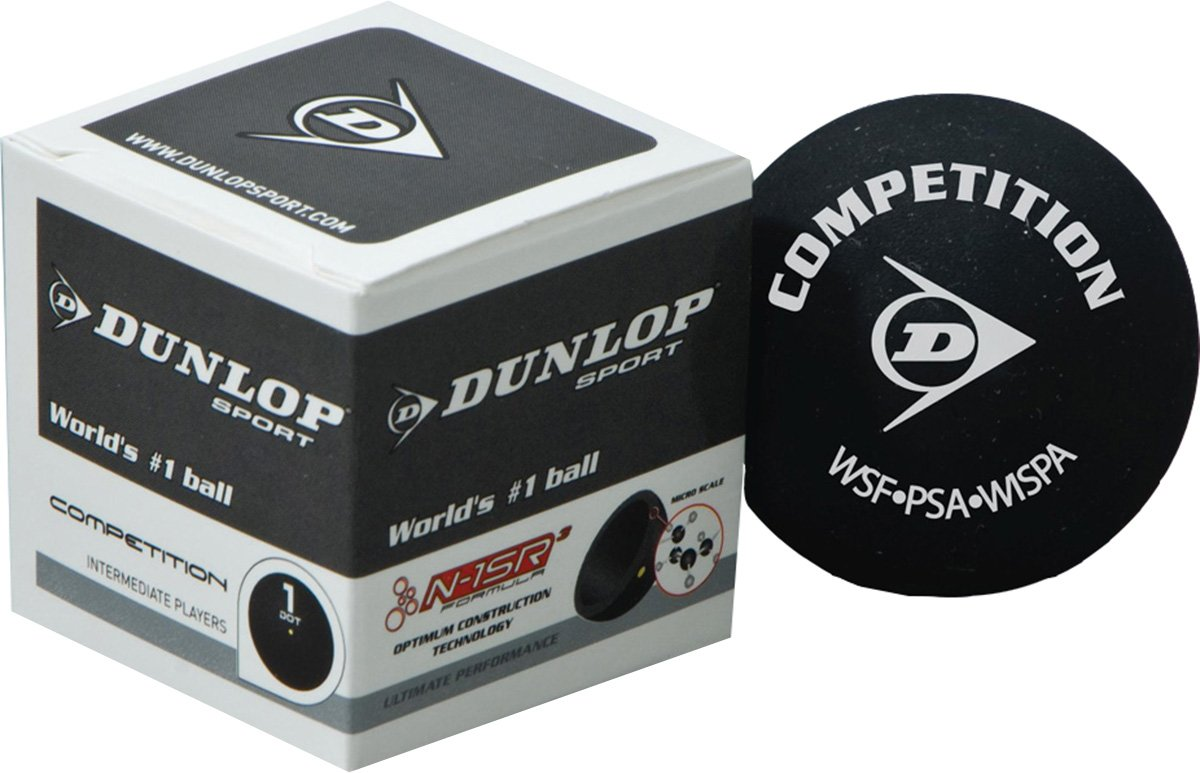 DUNLOP Sport Intermediate Players Competition Racquetball Squash Ball Pack of 12