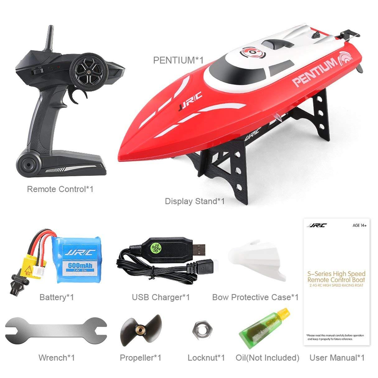 Wafalano Mini Racing RC-Stiefel, JJRC 25 S1 2,4 GHz 2CH 25 JJRC km/h Hochgeschwindigkeits-Mini Racing RC-Stiefel wasserdicht RTR-Fernbedienung SchnellStiefel Spielzeug für Erwachsene Kinder b48974
