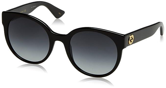 13562a1734 Amazon.com  Gucci GG0035S - 001 Black Grey Gradient Round Sunglasses ...